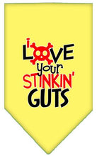 Load image into Gallery viewer, Love Your Stinkin Guts Screen Print Bandana-Valentines-Bella's PetStor