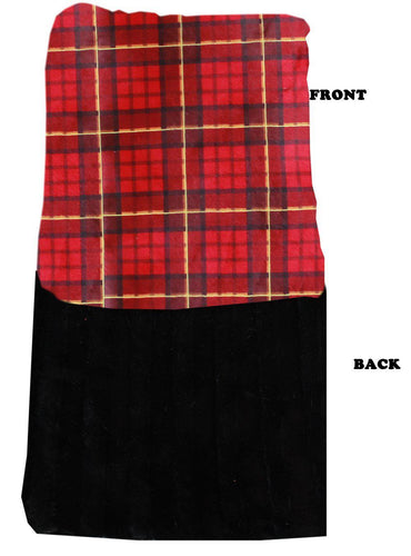 Luxurious Plush Carrier Blanket Red Plaid-Bedding-Bella's PetStor