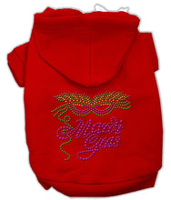 Load image into Gallery viewer, Mardi Gras Rhinestud Hoodies-Dog Clothing-Bella's PetStor