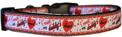 Melt Daddy's Heart Nylon Cat Safety Collar-Dog Collars-Bella's PetStor