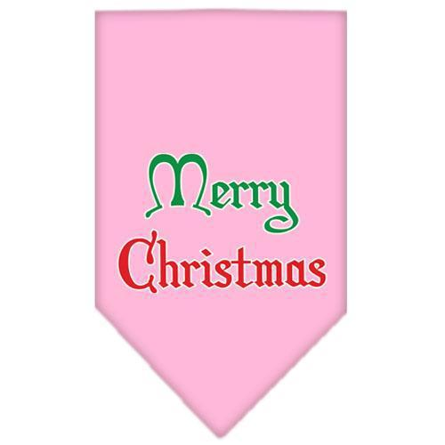 Merry Christmas Screen Print Bandana-Christmas, Hannukah-Bella's PetStor