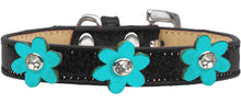 Load image into Gallery viewer, Metallic Flower Ice Cream Collar Black With Metallic Flowers Size-Dog Collars-Bella's PetStor