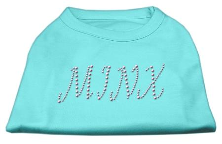 Minx Rhinestone Shirts Aqua-Dog Clothing-Bella's PetStor