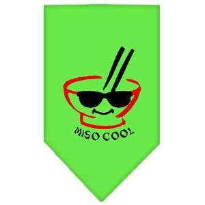 Miso Cool Screen Print Bandana Lime Green Large-miso cool screen print bandana-Bella's PetStor