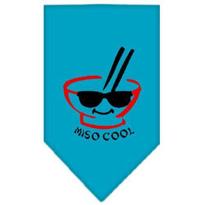 Miso Cool Screen Print Bandana Turquoise Large-miso cool screen print bandana-Bella's PetStor
