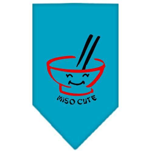 Miso Cute Screen Print Bandana Turquoise Small-miso cute screen print bandana-Bella's PetStor