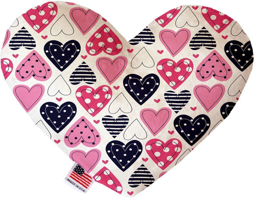 Mixed Canvas Heart Dog Toy-Made in the USA-Bella's PetStor