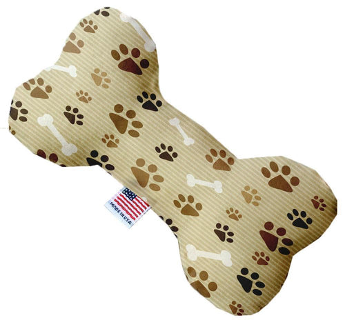 Mocha Paws And Canvas Bone Dog Toy-Made in the USA-Bella's PetStor