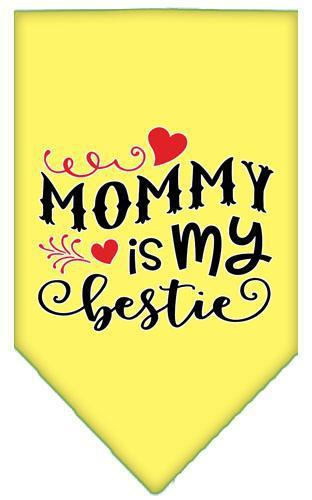 Mommy Is My Bestie Screen Print Pet Bandana-Bandanas-Bella's PetStor