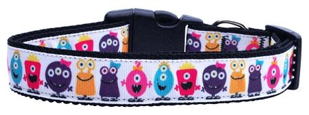 Monsters Nylon Ribbon Dog Collars-Dog Collars-Bella's PetStor