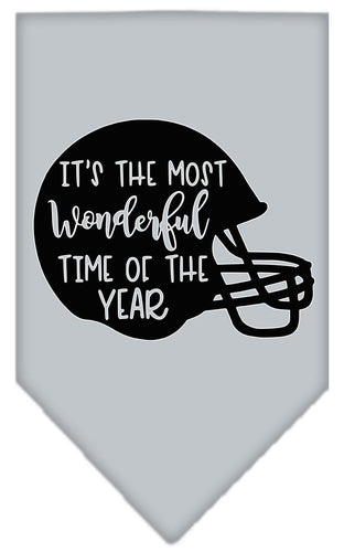 Most Wonderful Time Of The Year (football) Screen Print Bandana-Bandana-Bella's PetStor