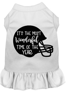 Most Wonderful Time Of The Year (football) Screen Print Dog Dress-Fall-Bella's PetStor