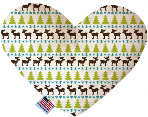 Mountain Moose Inch Canvas Heart Dog Toy-Made in the USA-Bella's PetStor