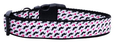 Moustache Love Nylon Cat Collar-Dog Collars-Bella's PetStor