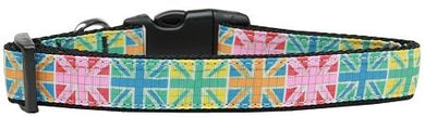 Multi-color Uk Flag Nylon Cat Collar-Dog Collars-Bella's PetStor