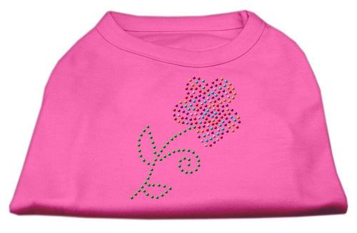 Multi-colored Flower Rhinestone Shirt Bright Pink-Dog Clothing-Bella's PetStor
