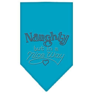 Naughty But In A Nice Way Rhinestone Bandana-Dog Clothing-Bella's PetStor