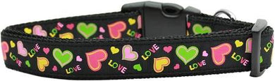 Neon Love Nylon Cat Collar-DOGS-Bella's PetStor