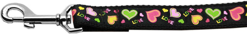 Neon Love Nylon Dog Leash Inch Wide Long-DOGS-Bella's PetStor