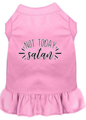 Not Today Satan Screen Print Dog Dress-Easter-Bella's PetStor
