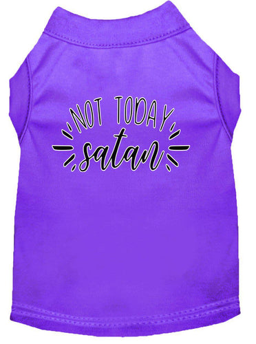 Not Today Satan Screen Print Dog Shirt-Easter-Bella's PetStor
