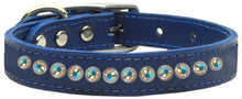 Load image into Gallery viewer, One Row Ab Jeweled Leather-Dog Collars-Bella's PetStor