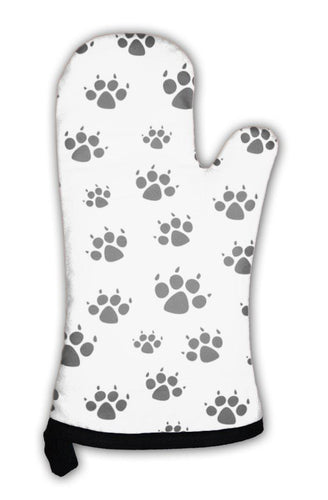 Oven Mitt, Dog Foot Prints Pattern-Oven Mitt-Bella's PetStor