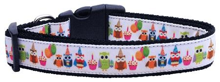 Party Owls Nylon Cat Collar-Dog Collars-Bella's PetStor
