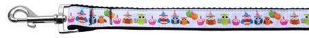 Party Owls Nylon Dog Leash Inch Wide Long-Dog Collars-Bella's PetStor