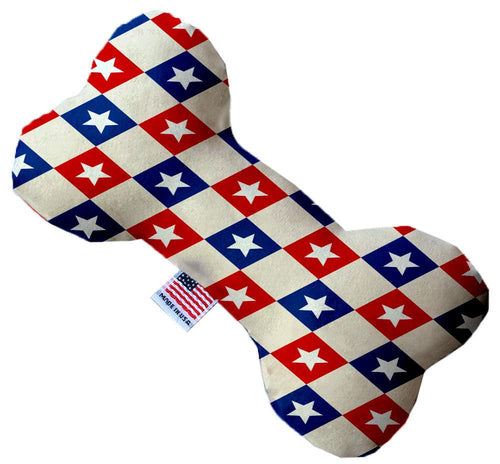 Patriotic Checkered Stars Inch Bone Dog Toy-Made in the USA-Bella's PetStor