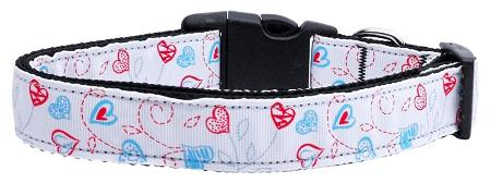 Patriotic Crazy Hearts Nylon Cat Collar-Dog Collars-Bella's PetStor