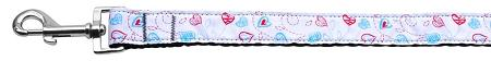 Patriotic Crazy Hearts Nylon Ribbon Dog Collars 1 Wide Leash-Dog Collars-Bella's PetStor