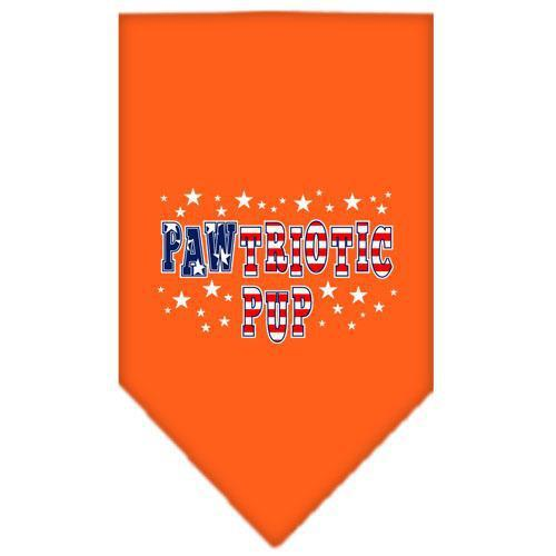 Pawtriotic Pup Screen Print Bandana Orange Small-pawtriotic pup screen print bandana patriotic pet supplies-Bella's PetStor