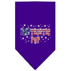 Pawtriotic Pup Screen Print Bandana Purple Small-pawtriotic pup screen print bandana-Bella's PetStor