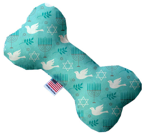 Peace And Hannukah 6 Inch Bone Dog Toy-Christmas, Hannakuh-Bella's PetStor