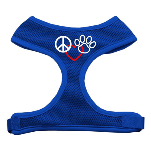 Peace, Love, Paw Design Soft Mesh Harnesses-Dog Harness-Bella's PetStor