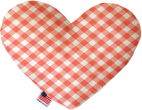 Peach Plaid Inch Heart Dog Toy-More-Bella's PetStor