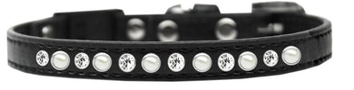 Pearl And Clear Jewel Breakaway Cat Collar Size-General-Bella's PetStor