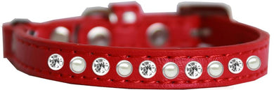 Pearl And Clear Jewel Cat Safety Collar Size-Cat Collars-Bella's PetStor