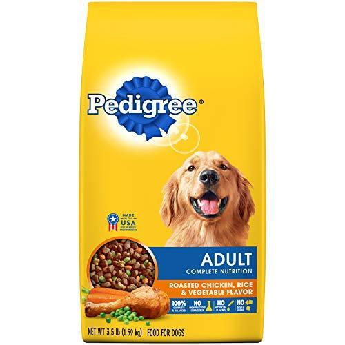 PEDIGREE Complete Nutrition Adult Dry Dog Food Roasted Chicken, Rice & Vegetable Flavor, 3.5 lb. Bag-Bella's PetStor