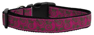 Pink And Lime Swirly Nylon Dog Collar-DOGS-Bella's PetStor