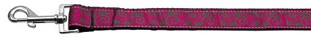 Pink And Lime Swirly Nylon Dog Leash Inch Wide Long-DOGS-Bella's PetStor