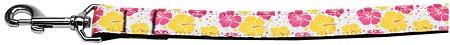 Pink And Yellow Hibiscus Flower Nylon Dog Leash Inch Wide Long-DOGS-Bella's PetStor