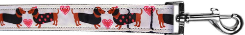 Pink Doxie Love Nylon Pet Leash By-Dog Collars-Bella's PetStor