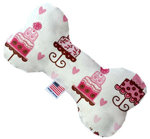 Pink Fancy Cakes Inch Canvas Bone Dog Toy-Made in the USA-Bella's PetStor