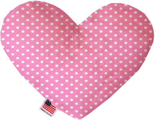 Pink Polka Dots Inch Heart Dog Toy-More-Bella's PetStor