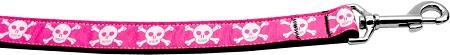 Pink Skulls Nylon Dog Leash Inch Wide Long-DOGS-Bella's PetStor