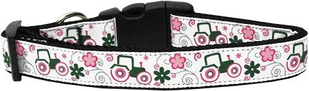 Pink Tractors Nylon Cat Collar-Dog Collars-Bella's PetStor