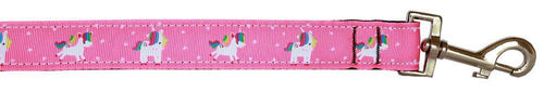 Pink Unicorn Nylon Pet Leash 1in By-DOGS-Bella's PetStor