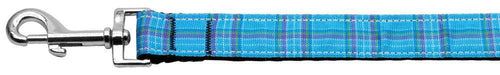 Plaid Nylon Collar Blue 1 Wide Lsh-Dog Collars-Bella's PetStor